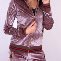 Gucci Luxurious Tracksuit for Women- Brown With Silver Tint